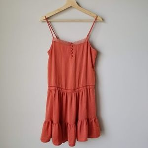 Anthropologie Staring at Stars Orange Mini Dress S